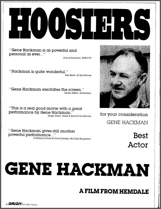 For Your Consideration: Hackman