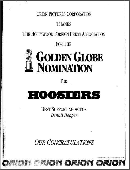 Golden Globes Ad