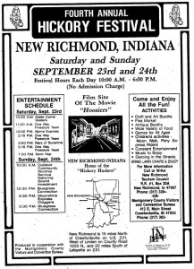 New Richmond held an annual Hickory Festival through 1990.