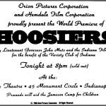 Advertisement announcing the world premiere