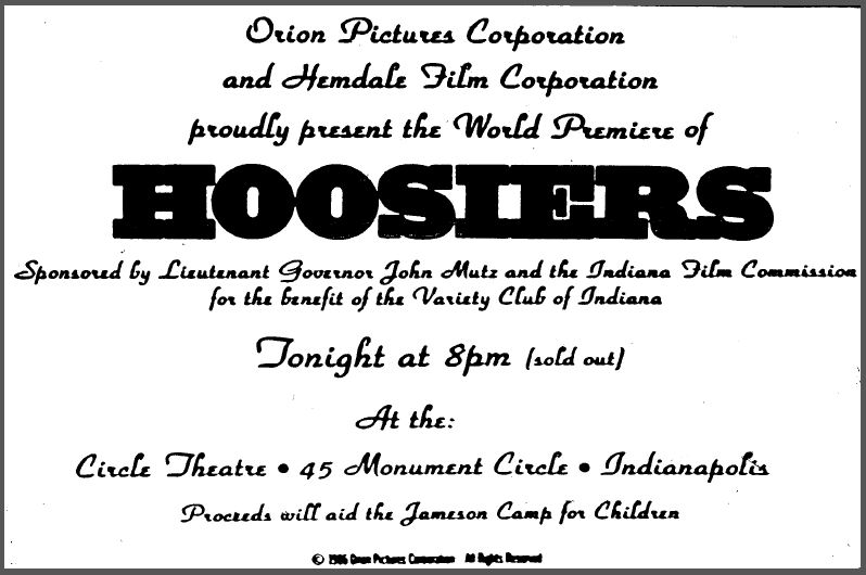 Advertisement announcing the world premiere