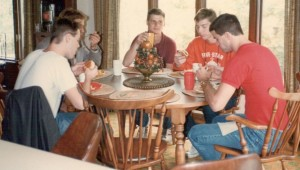 Brad Long invited his fellow actors to his parents' house for lunch.