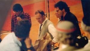 Writer/producer Angelo Pizzo, Gene Hackman, director David Anspaugh