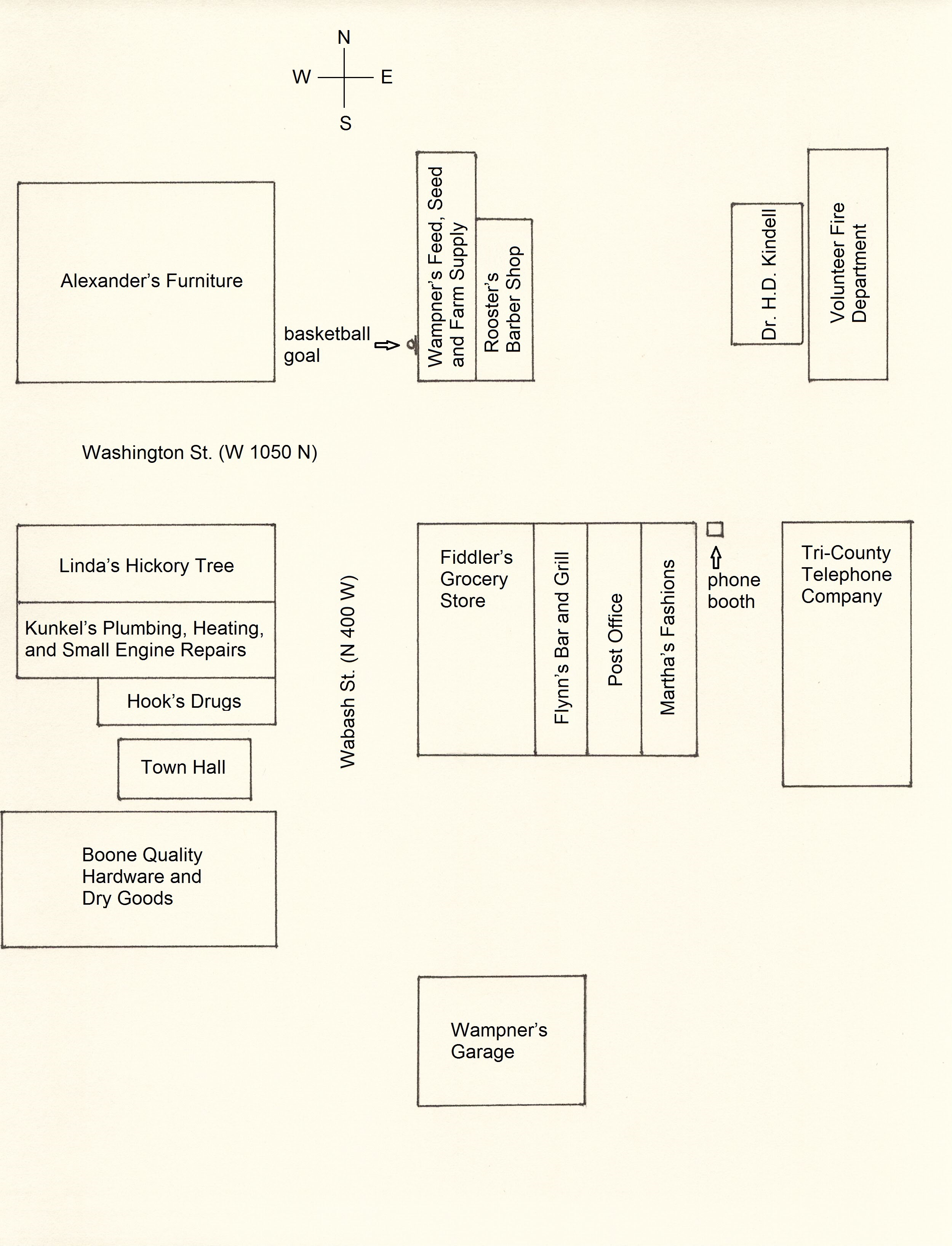 Diagram of downtown Hickory