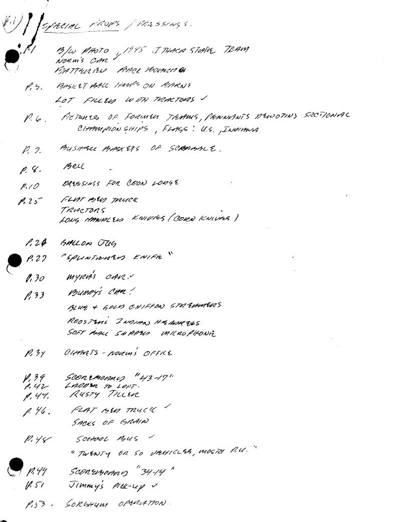 Props List Page 1