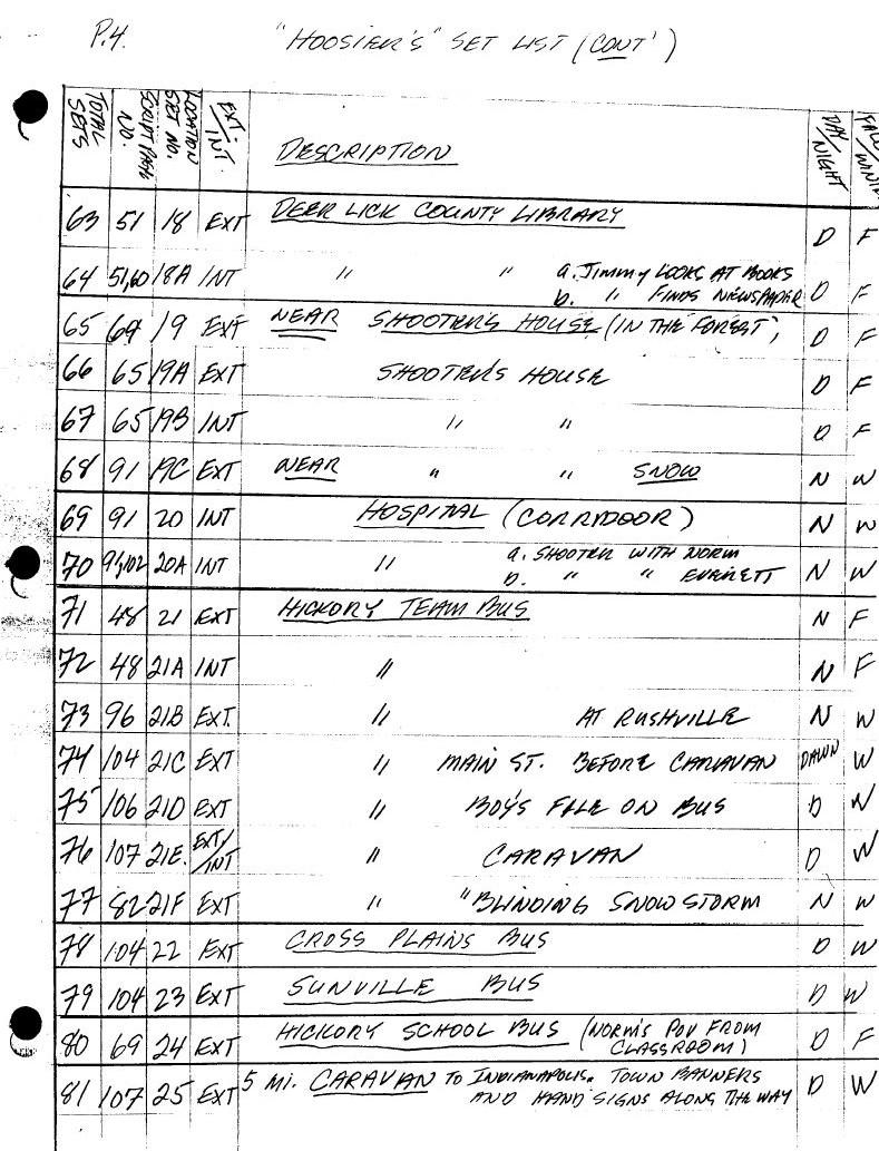 Set List Page 4