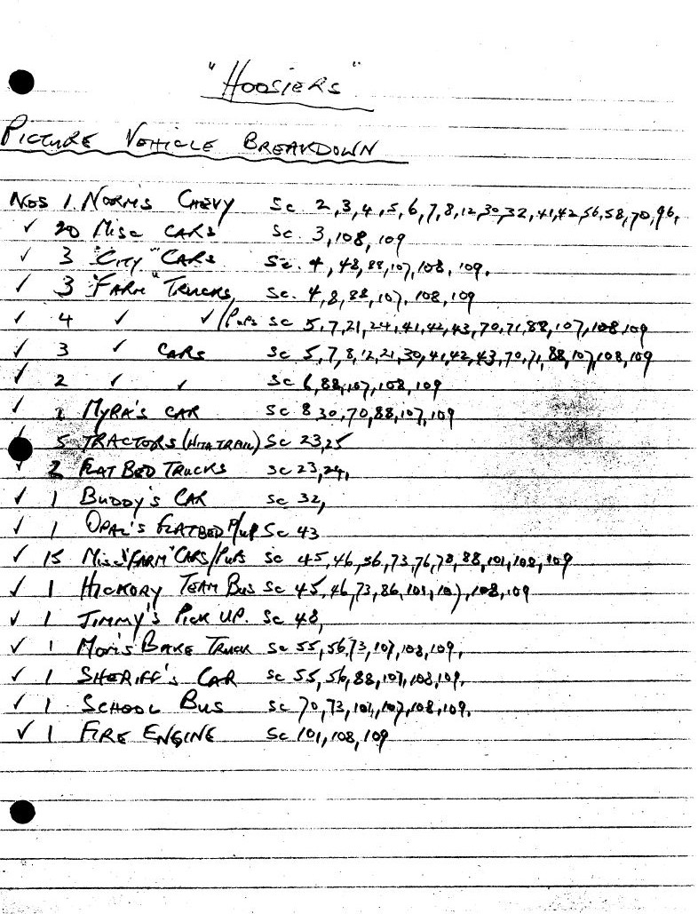 Vehicle List 5
