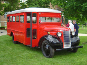 The restored Hickory team bus in 2010.